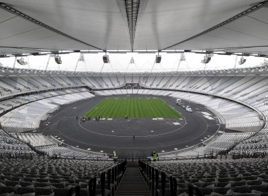 London's Olympic Stadium which will be the focal point of the action next summer.