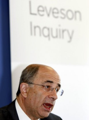 File photo of Lord Justice Leveson.