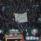 Celtic fans take it handy with the banners and chanting in the game at Celtic Park in midweek.