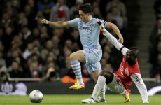 When Manu met Samir: Carling Cup 'handbags' as stars clash in tunnel