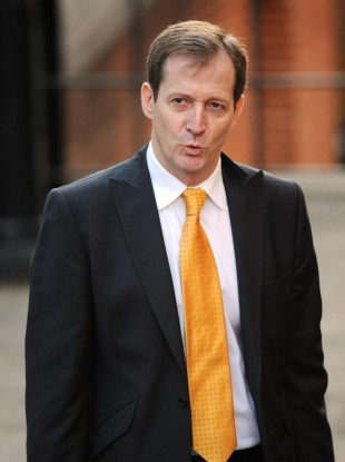 Alastair Campbell arrives at the Leveson Inquiry today
