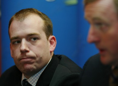 Darren Scully with Enda Kenny in 2005. 