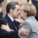Sarkozy and Merkel - by now, 'Merkozy' - continued their joint approach to tackling the European crisis, meeting in late November to announce more plans for changing the EU's founding treaties. They argued that giving centralised powers to the EU was the only way to ensure an end to the debt crisis.