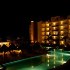 Excellence Playa Mujeres is located in Cancun, Mexico, and looks like quite the place for honeymooning couples. Its five-stars no doubt stem from features like its martini bar, lazy river and ocean views... and the fact they serve food and drink in the pool!