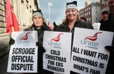 Hundreds of EBS staff to go on strike tomorrow over Christmas payment