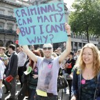 Thousands of people took to the streets of Dublin on August 14 to march for civil marriage equality (Mark Stedman/Photocall Ireland)