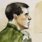 A courtroom sketch of Jeremy Morlock, who pleaded guilty to killing three Afghan civilians. He was sentenced to 24 years in prison. (Pic: AP Photo/Lois Silver)