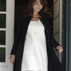 Carla Bruni-Sarkozy, wife of French president Nicolas Sarkozy (AP Photo/Virginia Mayo, Pool)