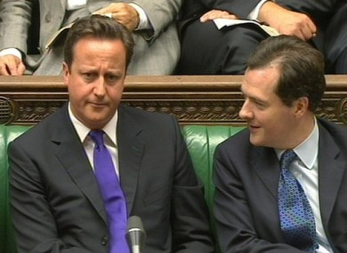 Cameron and Osborne in the House of Commons earlier this year.