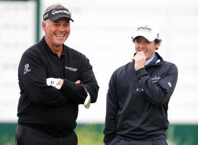 The pair together during the British Open in June.