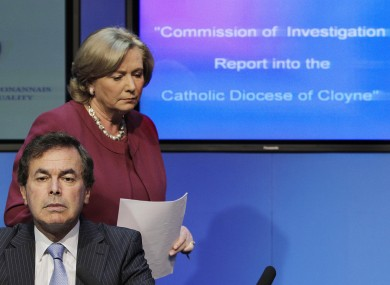 Children's Minister Frances Fitzgerald and Justice Minister Alan Shatter at the publication of the truncated Cloyne Report in July of this year
