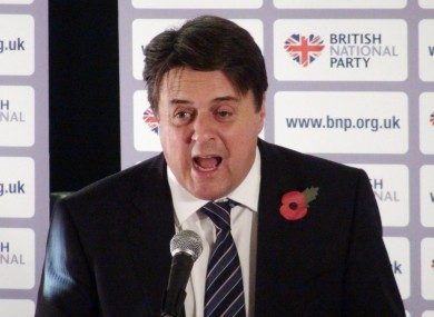 BNP leader Nick Griffin had been due to attend a debate on free speech at University College Cork in the New Year.