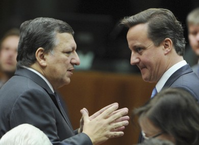 Jose Manuel Barroso (left) told MEPs that the agreement of the