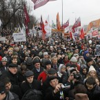 Protesters in Moscow (AP Photo/Mikhail Metzel)