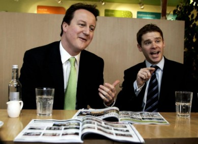 File photo dated 27/03/06 of Prime Minsiter David Cameron (left) with Conservative MP Aidan Burley