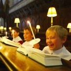 Chichester Cathedral Choristers rehearse for their busiest period of the year this Christmas, England.