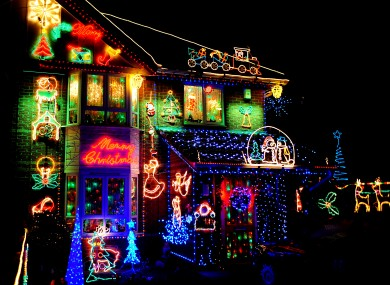 Christmas much? One homeowner in Leicester takes it pretty seriously...