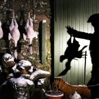 Farmer John Booth plucks, weighs and hangs his Bronze Turkeys in preparation for Christmas dinner at his farm near Doune, central Scotland.