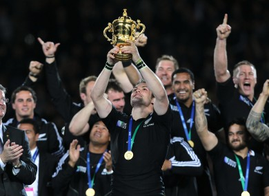 New Zealand won the World Cup for the first time since 1987 last October.