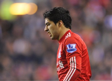 Luis Suarez was left frustrated at Anfield once more
