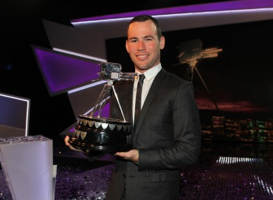 Mark Cavendish shortly after winning the BBC SPOTY.