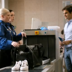 A box of Lindt chocolates -- Airport security keep nicking Roger's personal stash, apparently.