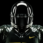 With most colleges using matte colors on their helmets, Oregon goes ultra glossy.