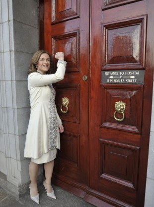Dr Rhona Mahony at Holles Street today