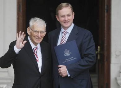 Dan Rooney with Enda Kenny last October