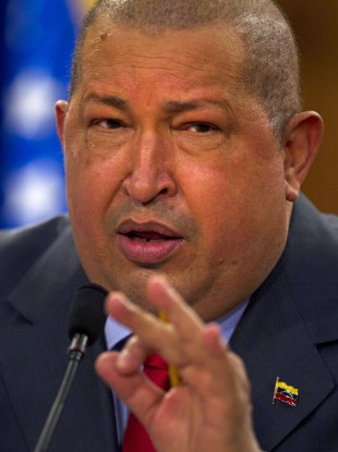 File photo of Venezuelan President Hugo Chavez