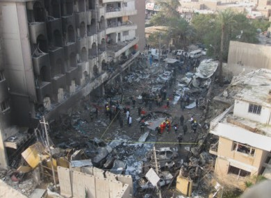 Increasing tensions: At least 69 people were killed in bombings on 22 December in Baghdad.