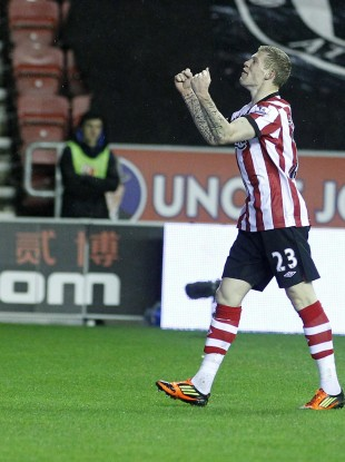 James McClean celebrates his goal. 