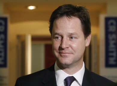 Nick Clegg will visit Dublin tomorrow