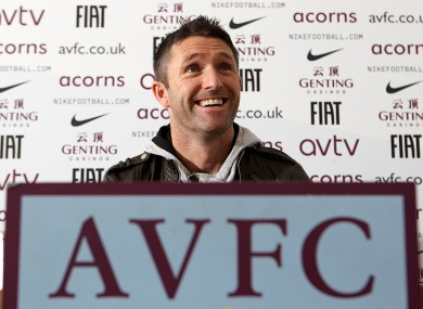Aston Villa's new loan signing Robbie Keane is 'unveiled' in Birmingham.