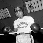 Ali trains in London in 1963.