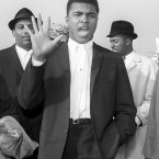 Ali at Heathrow Airport in 1963.