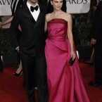 Former Golden Globes winner Natalie Portman and Benjamin Millepied arriving for last night's awards. (AP Photo/Matt Sayles/PA Images)