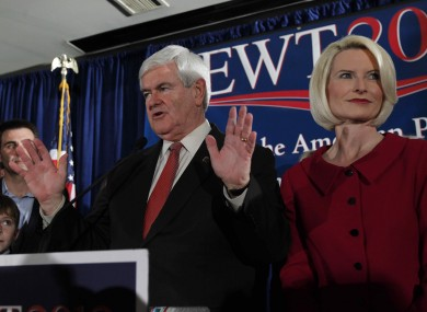 Newt Gingrich and his wife Callista last night
