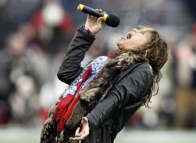 Aerosmith's Steven Tyler gives it socks.
