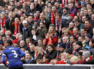 Evra was persistently booed by some Liverpool fans.