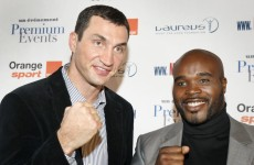 Soft touch: Klitschko lines up Jean Marc Mormeck