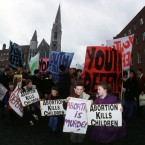 Youth Defence demos during a anti abortion demo in Dublin. Pic:Photocall Ireland