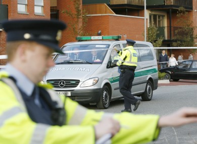 Gardaí at the scene of the shooting in Clongriffin in September.
