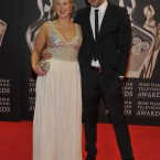 Niall 'Bressie' Breslin and his sister Andrea hitting the red carpet this evening. (Photo by KOBPIX)