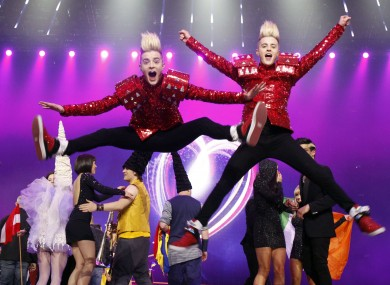 Jedward were highly fancied to win the Eurovision in 2011 - but only managed to come in 8th place.