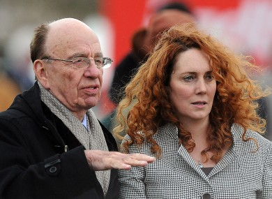 Rebekah Brooks with Rupert Murdoch at the Cheltenham Festival in 2010