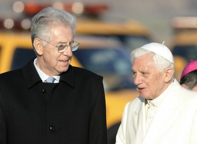 Italian premier Mario Monti meets with Pope Benedict XVI in November. Monti has announced plans to close a tax loophole which may cost the Italian Church up to €2 billion a year.