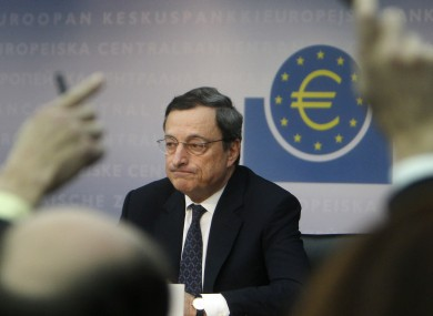 ECB president Mario Draghi: The ECB did not intervene in bond markets last week, the first time it's steered clear in six months.