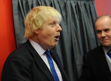 London Mayor Boris Johnson. Not a fan of 'lefty crap'.