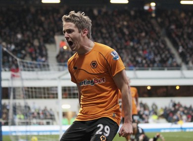 Kevin Doyle celebrates his winner against QPR.